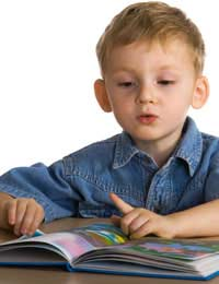 Age-appropriate beginning To Read boy